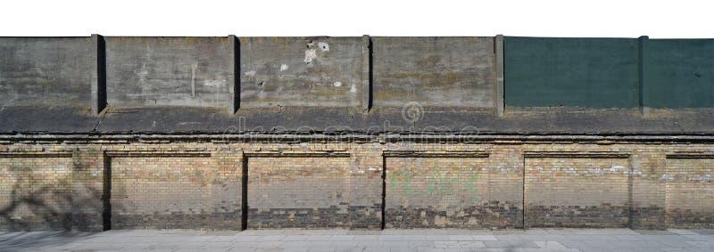 老多斑点的篱芭全景 免版税图库摄影