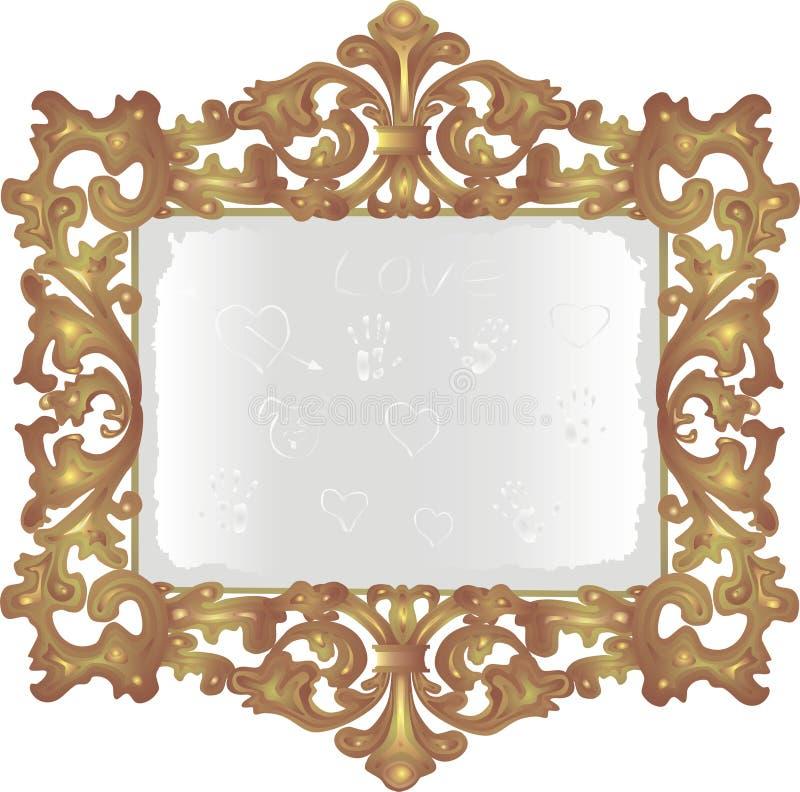 老多灰尘的镜子 图库摄影