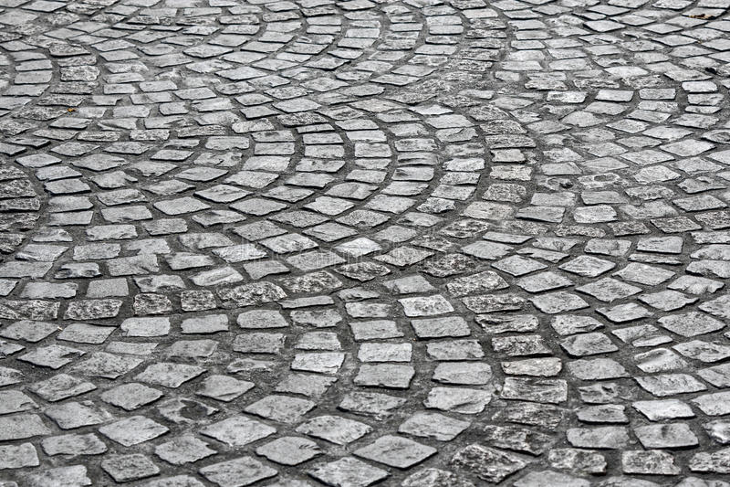 老大卵石石头街道 免版税库存照片