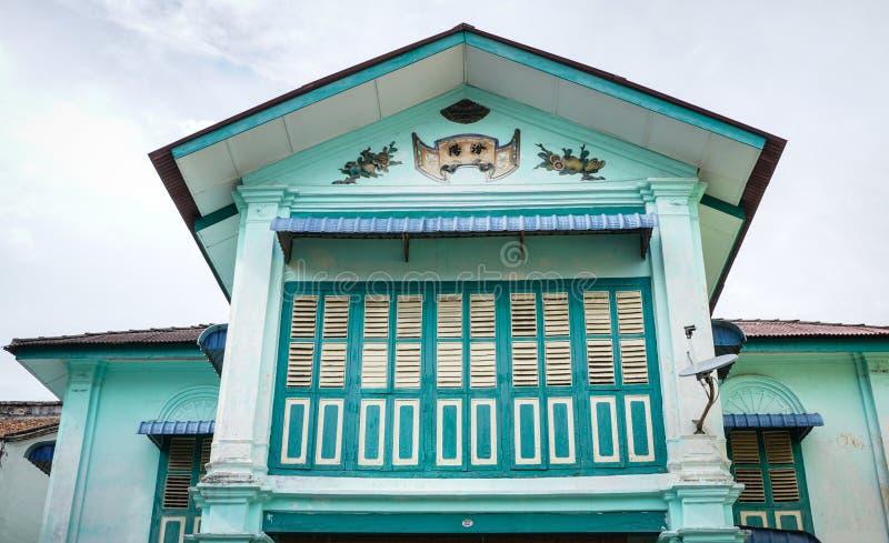 老大厦上面在乔治城,槟榔岛,马来西亚 库存照片