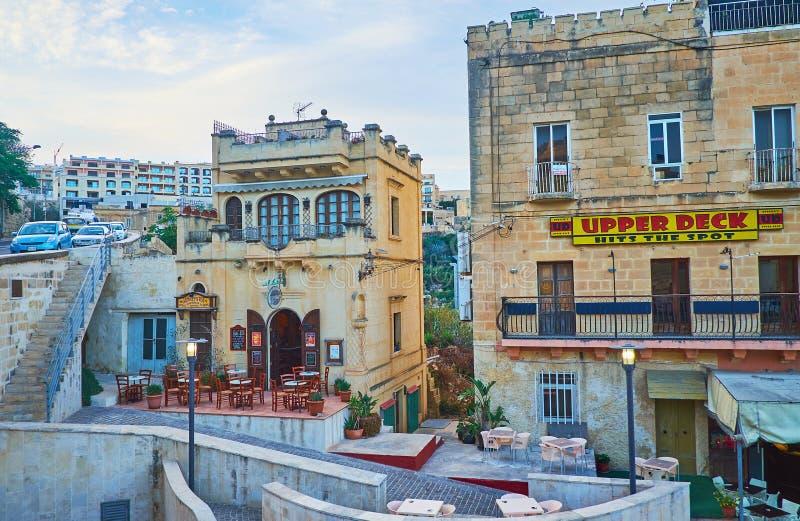 老大厦在Ghajnsielem,戈佐岛,马耳他 图库摄影