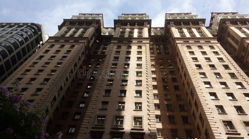 老大厦在São保罗巴西的中心 库存图片