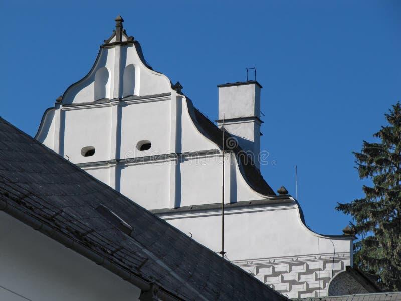 老大厦屋顶 免版税库存图片