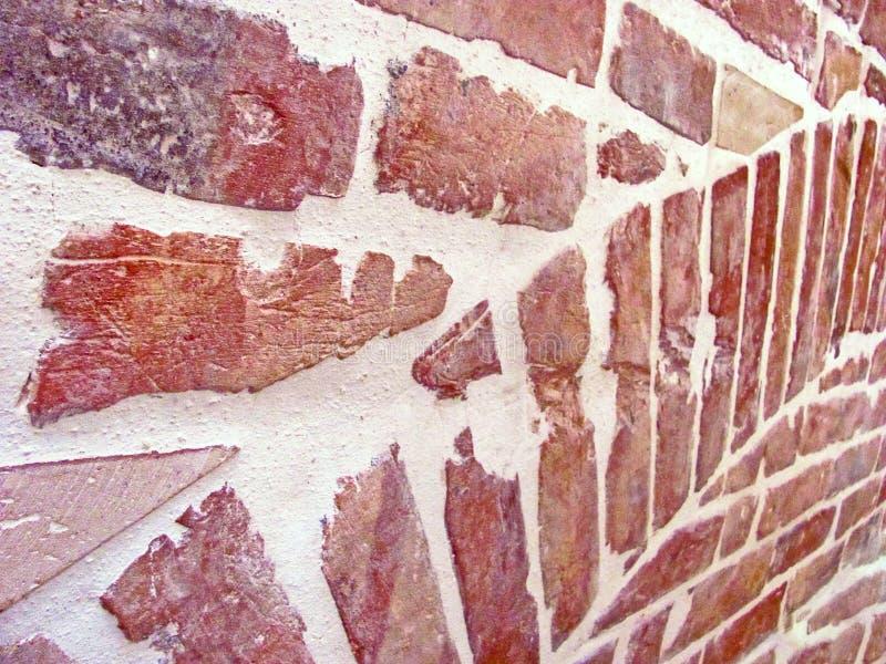 老大厦的古老砖墙,砖背景 免版税库存照片