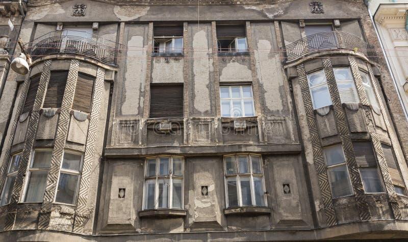 老大厦的门面的破坏 库存图片