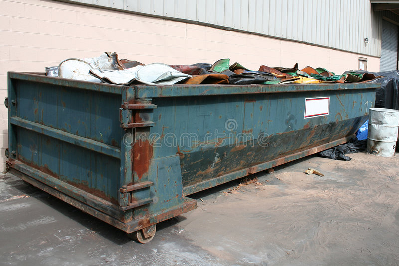 老大型垃圾桶 库存照片