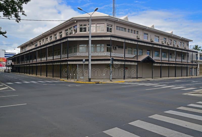 老大大厦在努美阿,新喀里多尼亚的首都 免版税库存照片