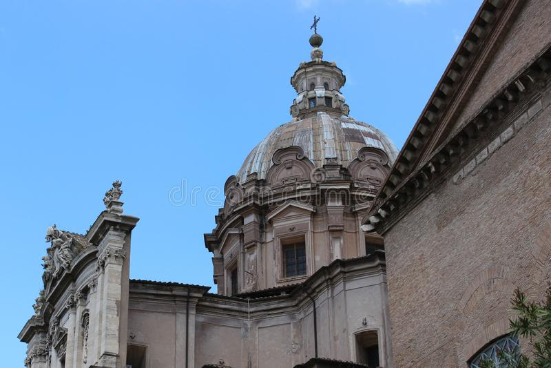 老大教堂在罗马 免版税库存图片