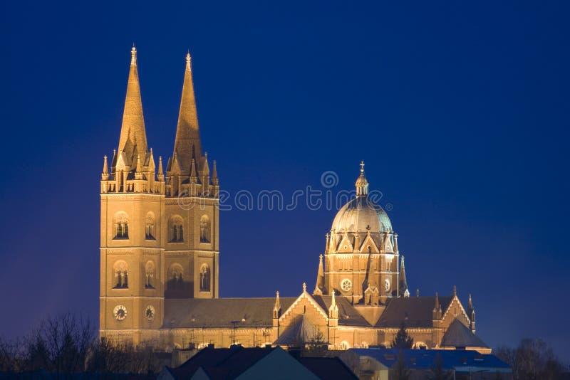 老大教堂晚上 免版税库存图片