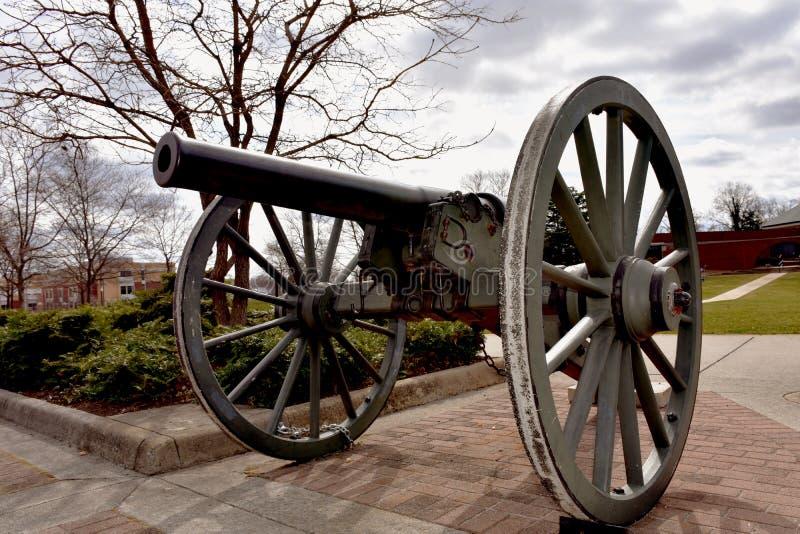 老大炮在奥尔德敦马纳萨斯,弗吉尼亚 免版税库存照片