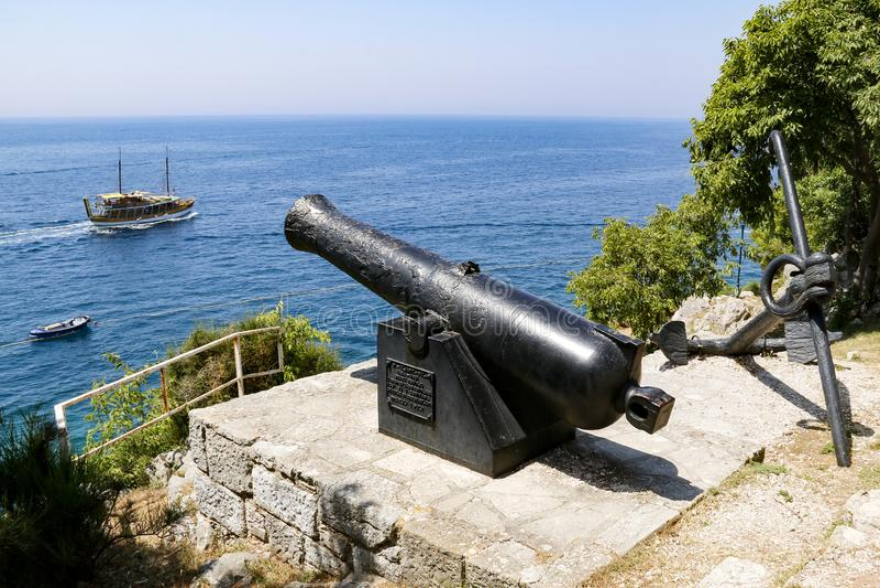 老大炮在罗维尼,克罗地亚 库存照片