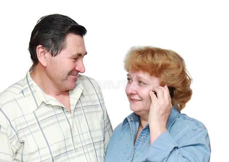 老夫妇 免版税图库摄影