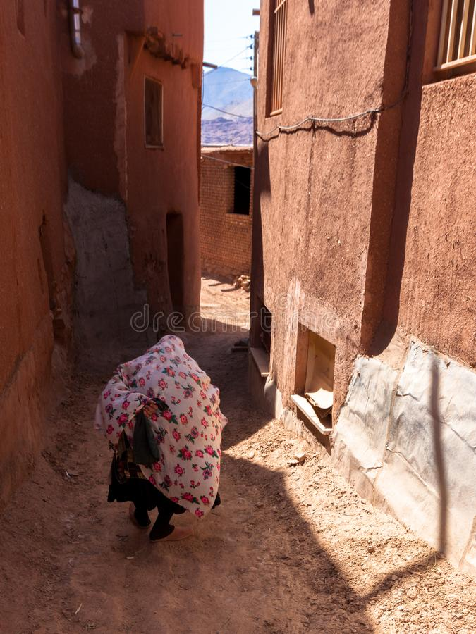 老妇人在阿卜亚内赫 库存照片