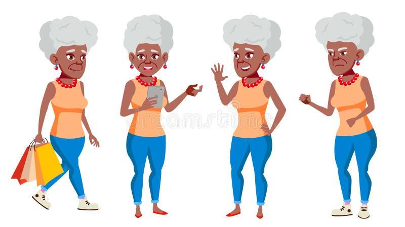 老妇性交姿势_老妇人姿势被设置的传染媒介 投反对票 美国黑人 老年