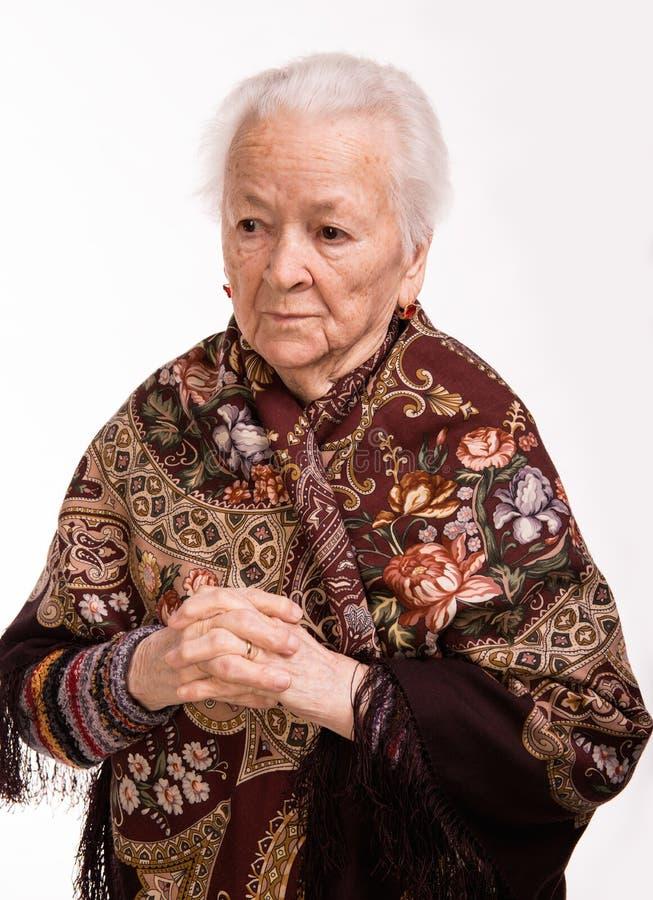 老妇人画象  免版税库存照片