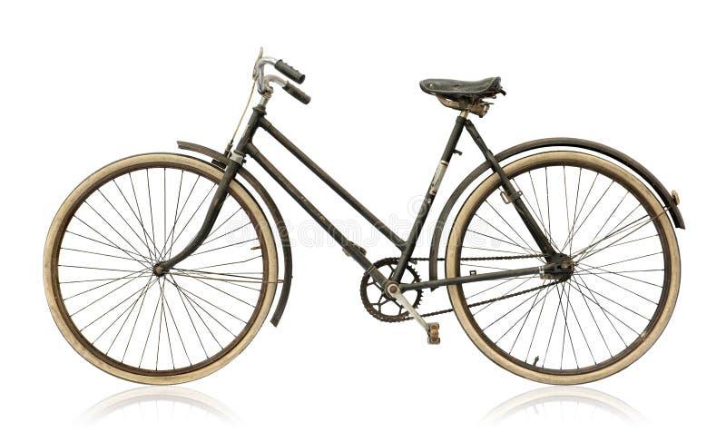 老妇人` s自行车 库存图片