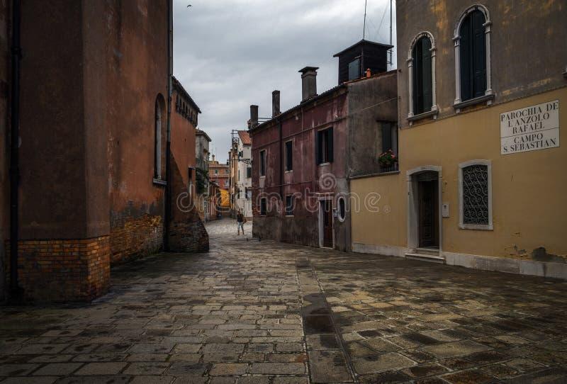 老威尼斯车道  意大利 免版税图库摄影
