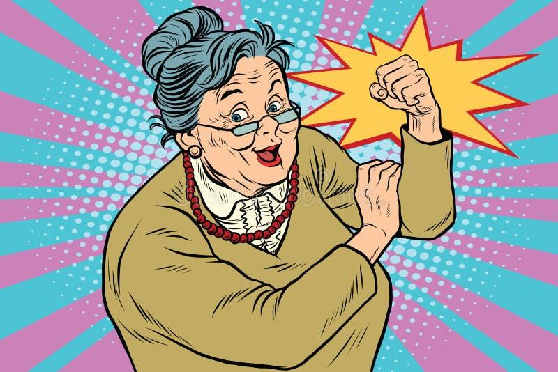老婆婆老妇人我们可以做它 库存例证