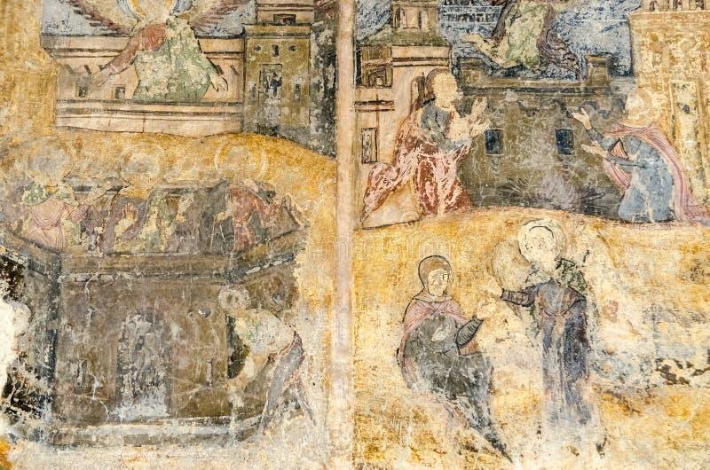 老宗教绘画 免版税库存照片