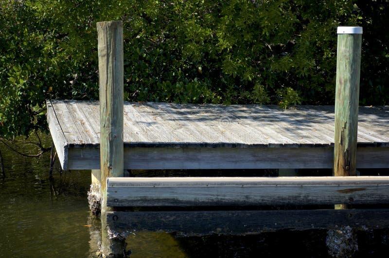 老小船船坞侧视图  免版税库存图片