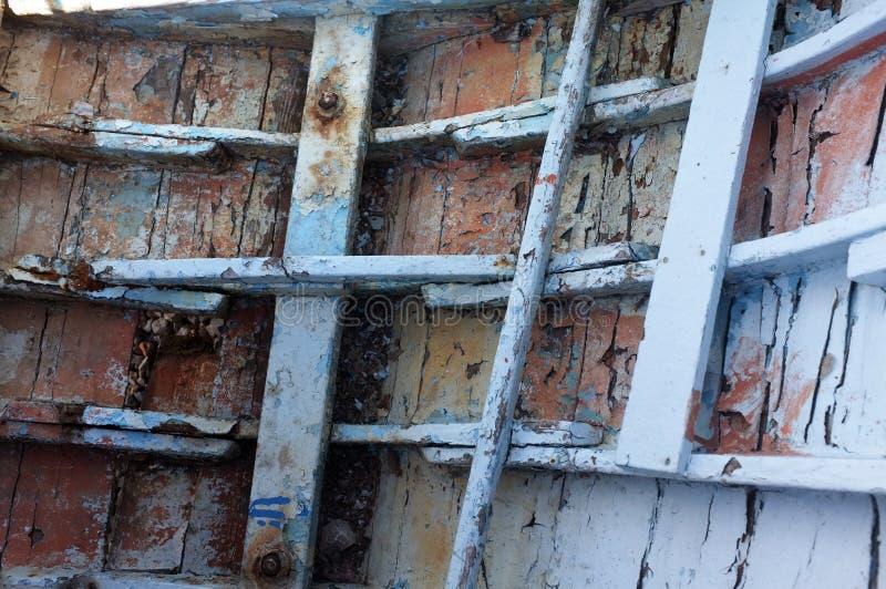 老小船裂口 库存照片