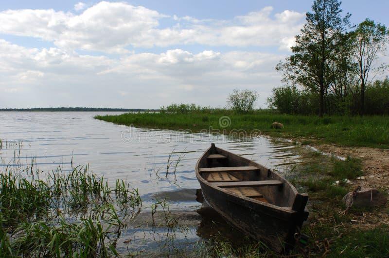 老小船 库存照片