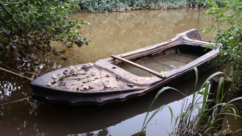 老小船 库存图片