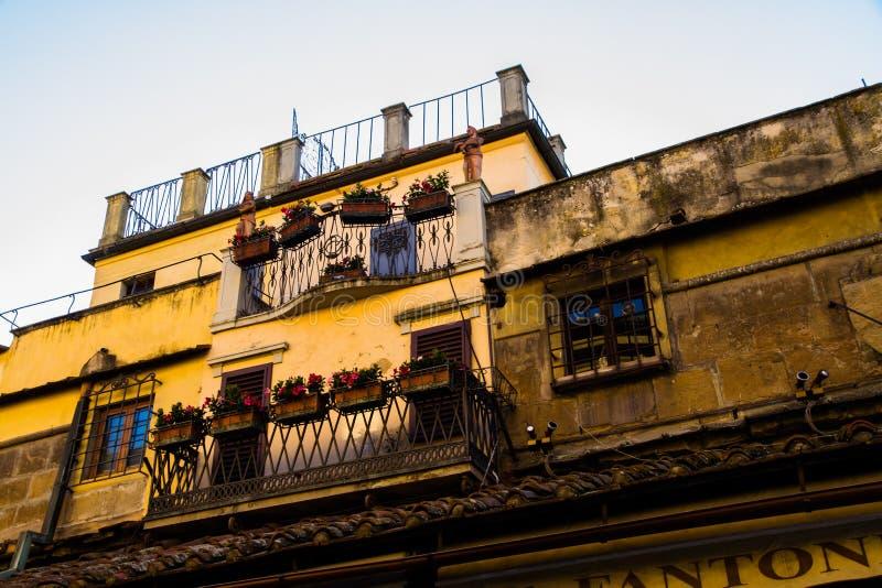 老居民住房前面,佛罗伦萨 免版税库存图片