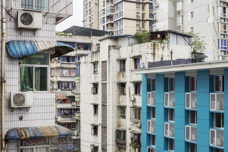 老居民住房在重庆,中国 免版税图库摄影