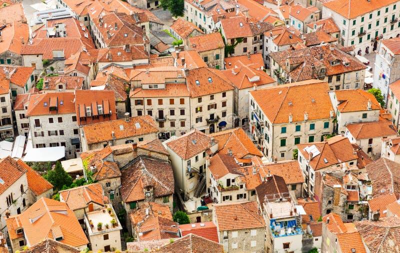 老屋顶城镇 库存图片