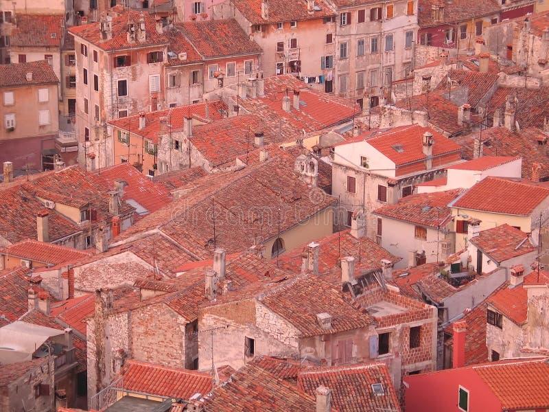 老屋顶城镇 图库摄影