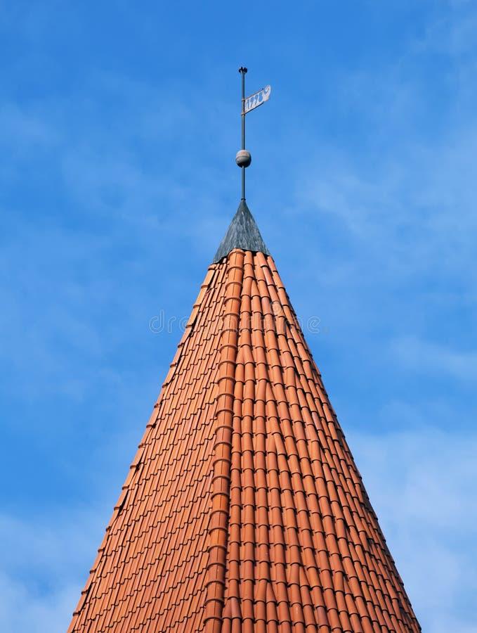 老屋顶塔 库存照片