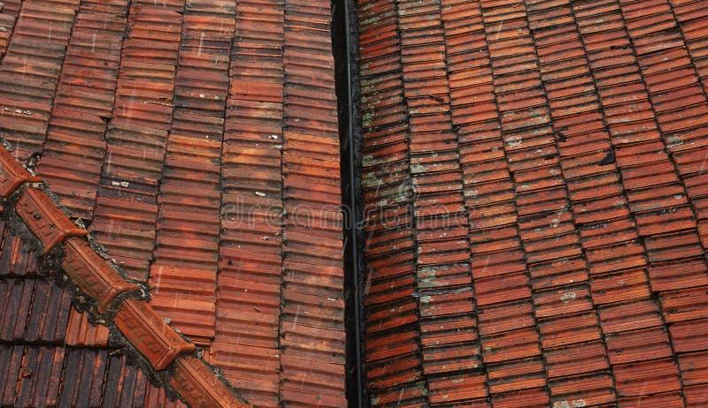 老屋顶摘要 图库摄影