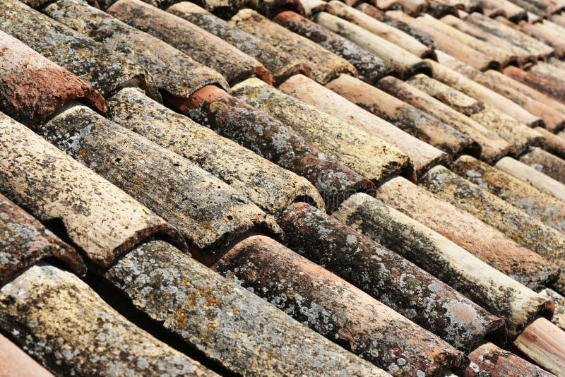老屋顶盖瓦 免版税库存图片