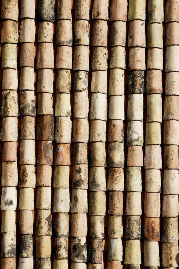 老屋顶盖瓦 图库摄影