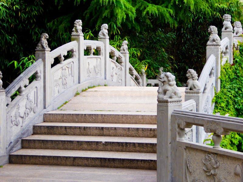 老山太清宫石头台阶 免版税库存照片