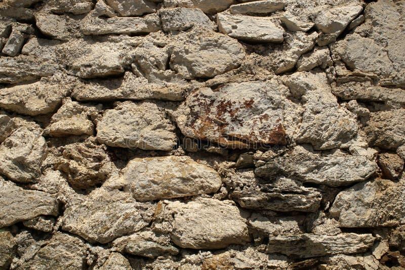 老岩石墙壁 库存图片
