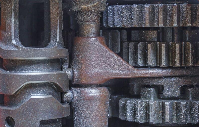 老嵌齿轮轮子 免版税库存图片