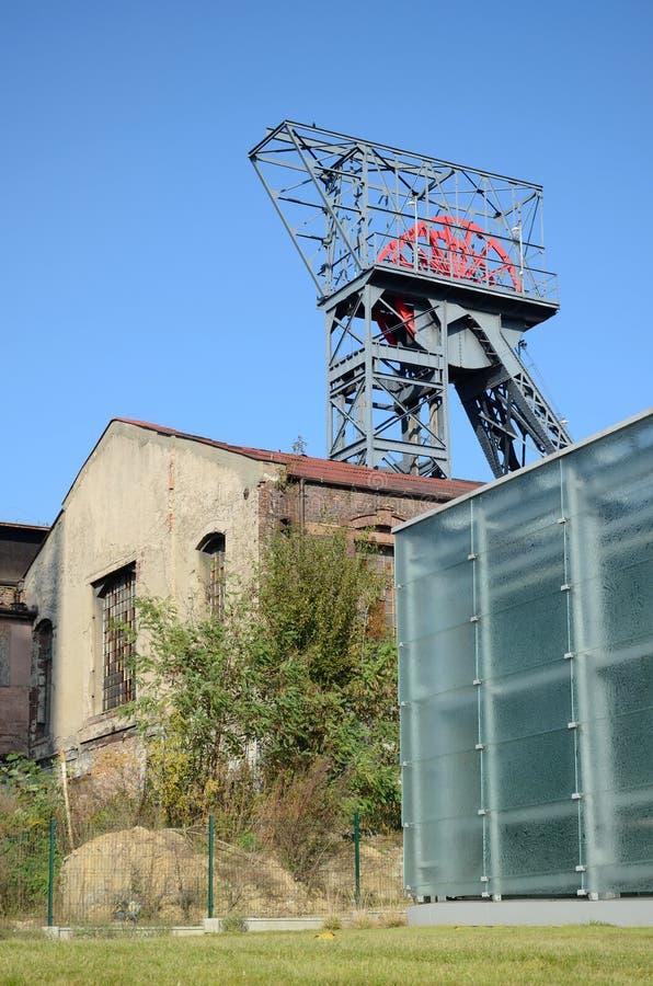 老工厂厂房(西莱亚西博物馆在卡托维兹,波兰) 免版税库存图片