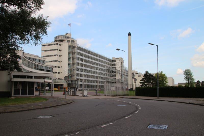 老工厂在现在是会议中心的鹿特丹 图库摄影