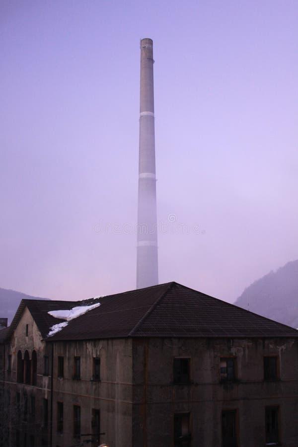 老工厂熔炉 免版税库存图片