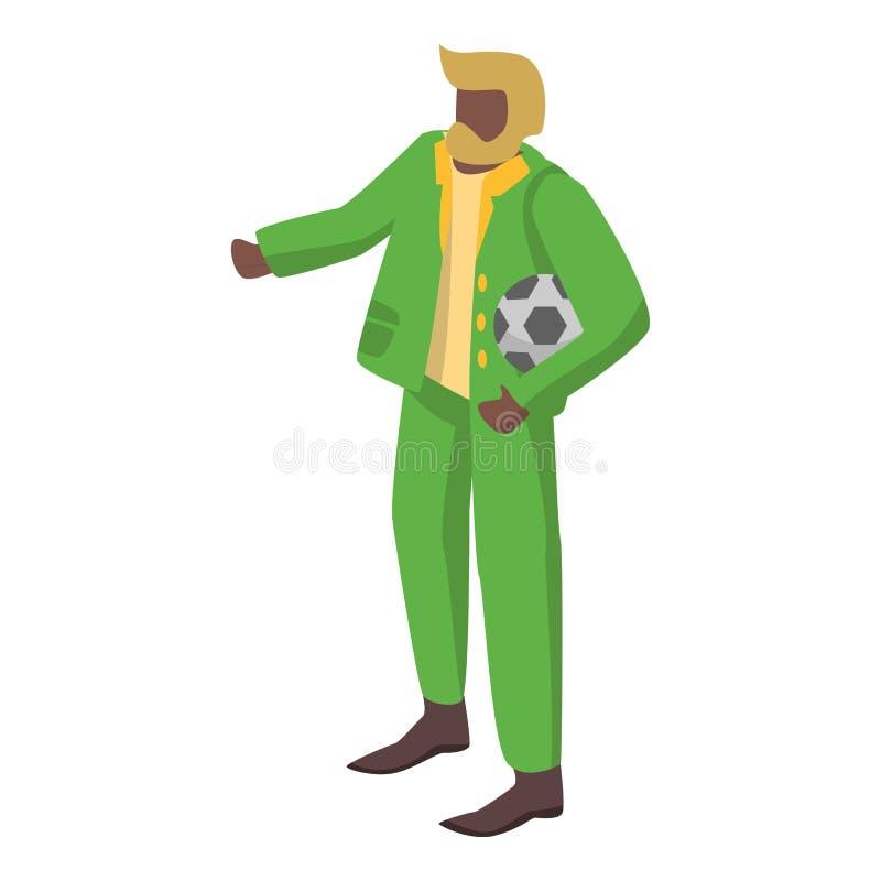 老巴西足球支持者象,等量样式 库存例证