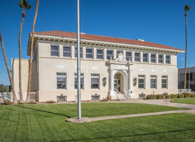 老市政厅,尤马,亚利桑那 免版税库存照片