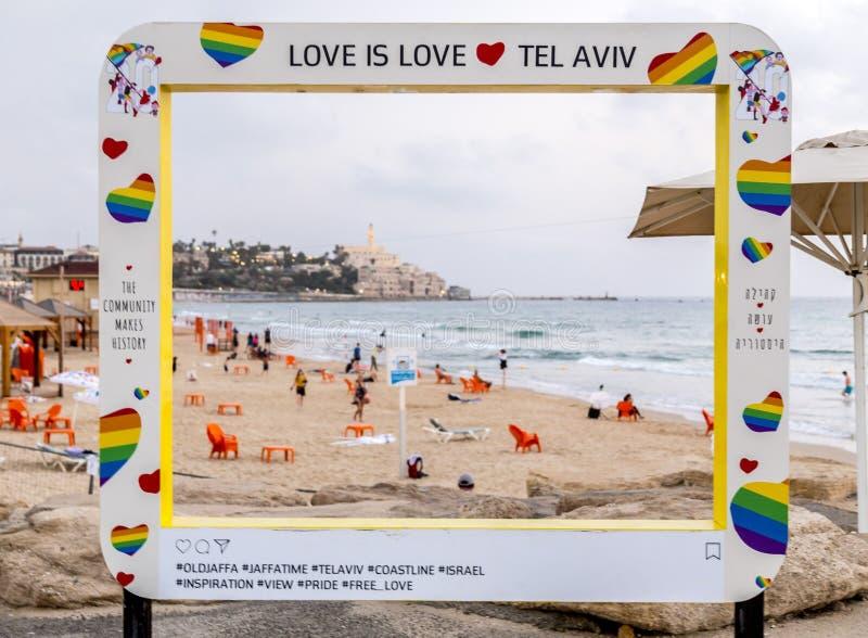 老市贾法角, Tel Aviv-Yafo,以色列 库存照片