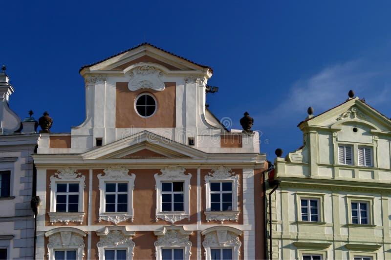 老布拉格屋顶冠上城镇 免版税图库摄影
