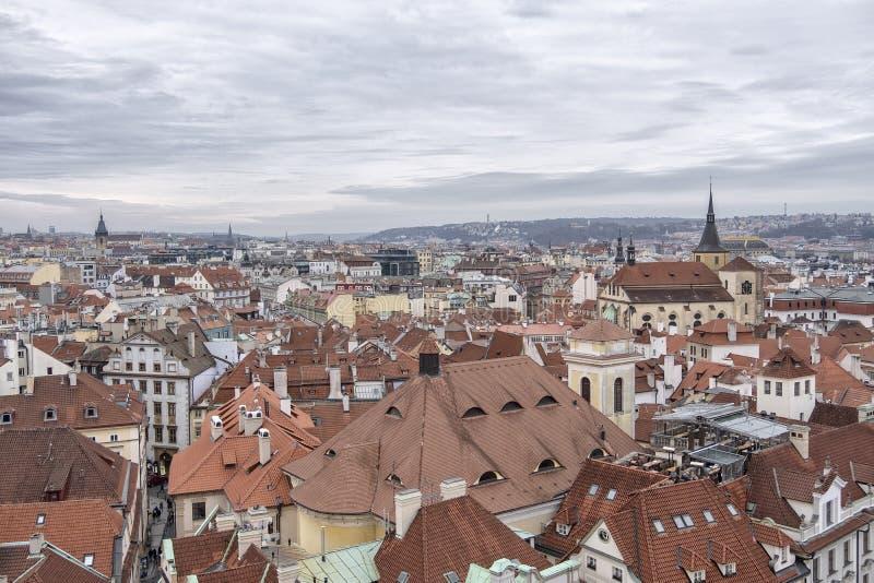老布拉格都市风景 免版税库存照片