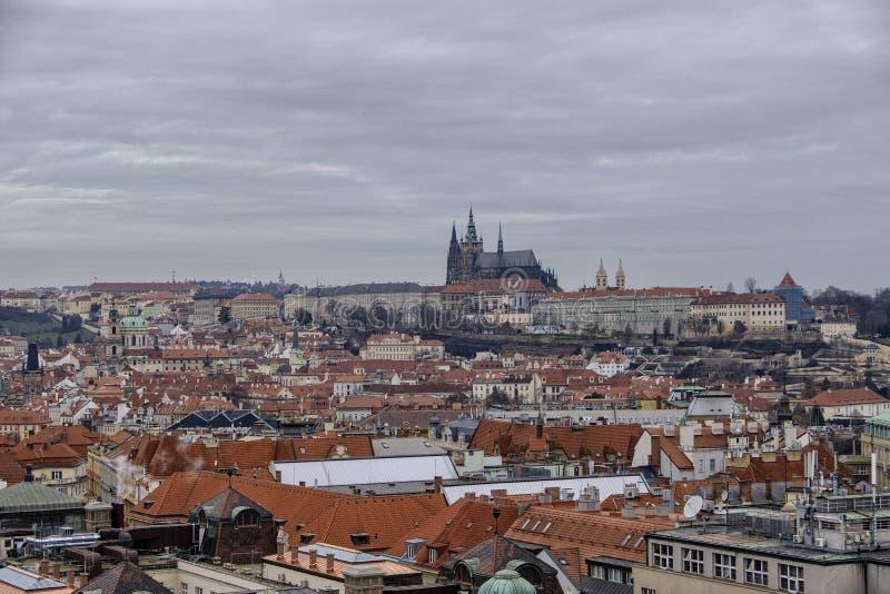 老布拉格都市风景 库存照片
