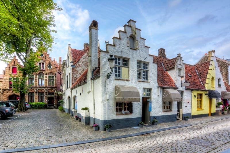 老布鲁日,比利时中世纪街道  库存图片