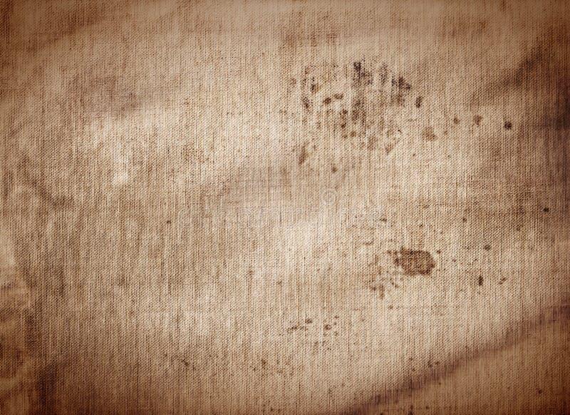 老帆布肮脏的咖啡纹理背景 库存图片