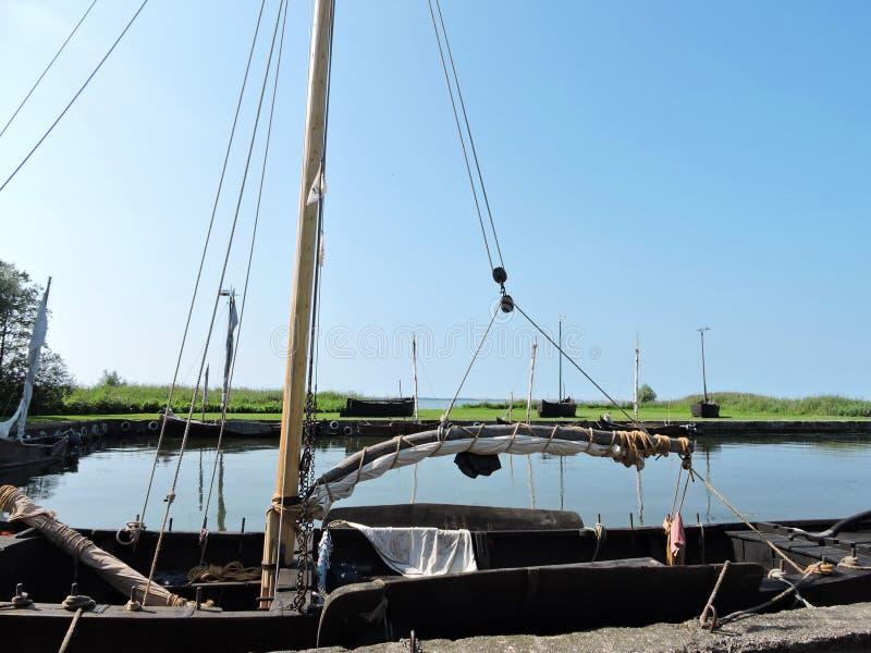 老帆船,立陶宛 免版税库存图片